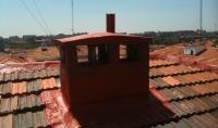 Proyecto reparación de chimenea en tejado