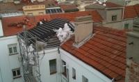 Proyecto reparación de tejado inclinado